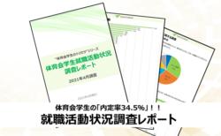 22卒体育会学生の内定率は34.5%!オンライン調査によるレポート公開!